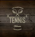 Tennis badges logos and labels for any use vector image vector image