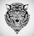Tribal Wolf Head Tattoo vector image