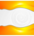 Vibrant orange wavy design vector image vector image