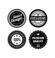 Vintage badges 3 vector image vector image