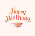 vintage watercolor birthday calligraphy vector image vector image