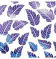 Watercolor seamless pattern on leaves theme vector image