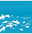 wavy arrows moving forward concept design vector image vector image