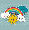 weather characters cute vector image