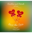 wedding hearts MR and MRS on a stick over vector image vector image
