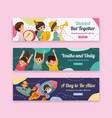 youth day banner template design vector image vector image