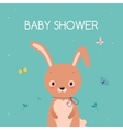 Baby shower card Cute cartoon rabbit vector image