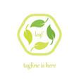 4 leaf logo template design vector image vector image