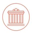 Acropolis of Athens line icon vector image vector image