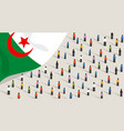 algerian independence anniversary celebration and vector image vector image