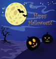background with pumpkins for Halloween vector image