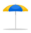 beach umbrella on white background vector image