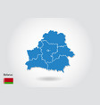 belarus map design with 3d style blue belarus map vector image vector image