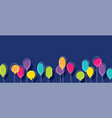 birthday party background with colorful balloons vector image vector image