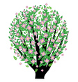 Bush with pink blossom vector image vector image