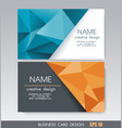 business card design with bright geometric vector image vector image