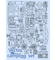 camping set icons vector image vector image