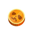 candy scary pumpkin face isolated caramel icon vector image vector image
