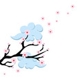 cherry blossom branch vector image