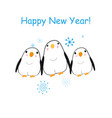Christmas bright card with funny penguins
