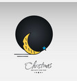 christmas card with creative elegant design and vector image vector image