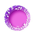 circle wreath of leaves and flowers paper cut vector image