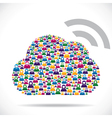 cloud computing concept download vector image