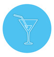cocktail cup isolated icon vector image