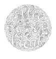 coffee break cups frame - wreath vector image
