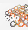 color rings with shadows on gray abstract vector image vector image