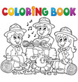 coloring book scouts theme 1 vector image vector image