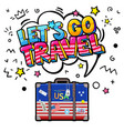 concept travel or studying english vector image vector image