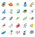 connection icons set isometric style vector image vector image