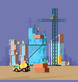 construction flat low poly buildings vector image