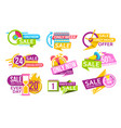 countdown banner to special offer discount vector image vector image