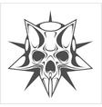 Cyber Skull in Star vector image vector image