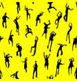 dancing people semless pattern people figures in vector image