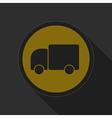 dark gray and yellow icon - lorry car vector image vector image