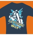 Extreme way - print for sweatshirt vector image vector image