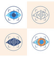 eye tracking icon set in flat and line style vector image