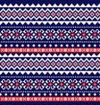 fair isle traditional knittting pattern vector image vector image