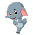 funny baby elephant cartoon vector image vector image