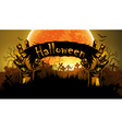 Halloween background with hand vector image vector image