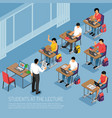 higher education isometric vector image vector image
