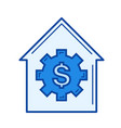 house price line icon vector image