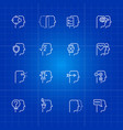 human mind processes icons set vector image vector image