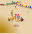 iftar party celebration concept flyer vector image