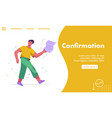 landing page confirmation concept vector image