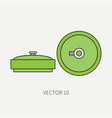 line flat color military icon anti-tank vector image vector image