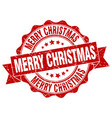 merry christmas stamp sign seal vector image vector image
